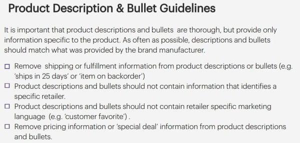 Jet Product Description Guidelines