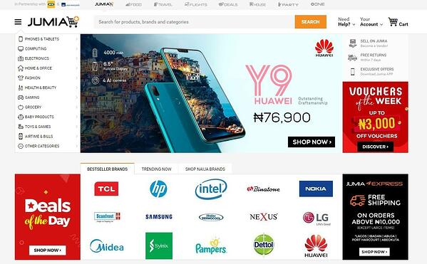 online marketplace in Africa jumia