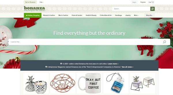 Bonanza online marketplace option