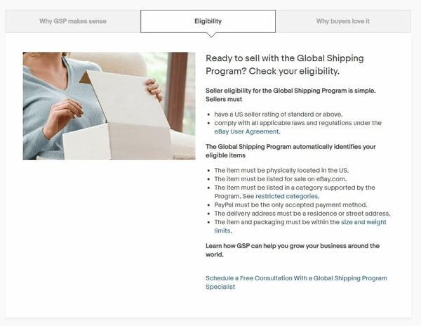 eBay global shipping program