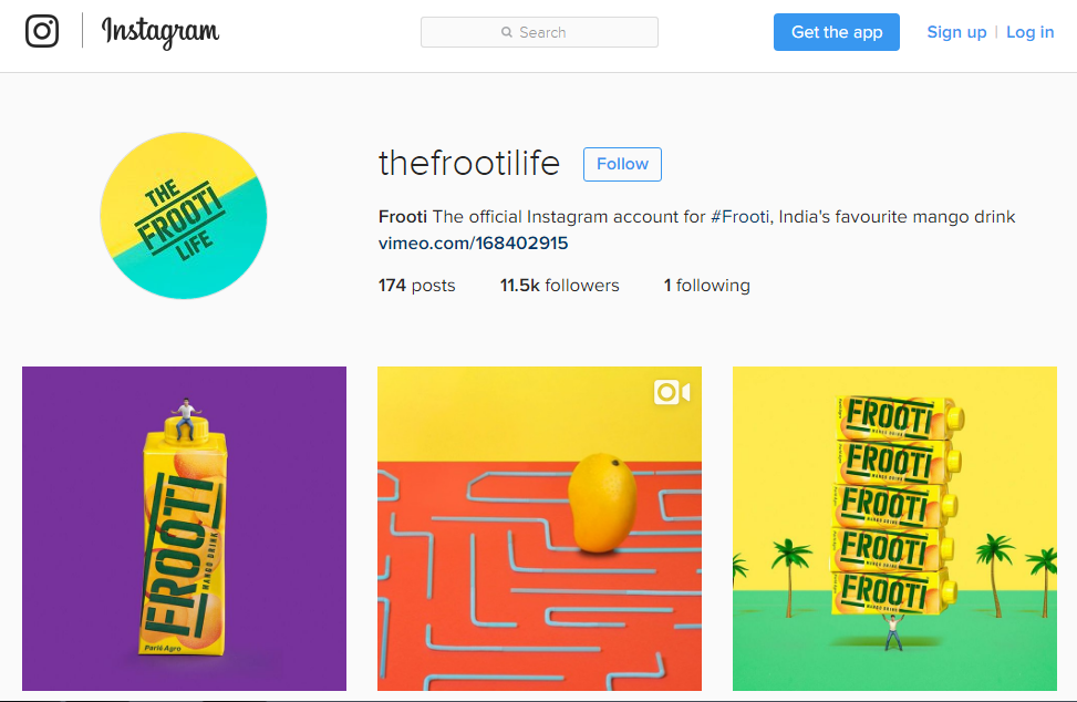 good example of eCommerce on instagram