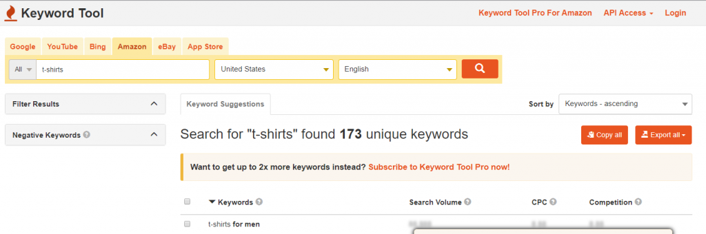 tools to help you find Amazon keywords